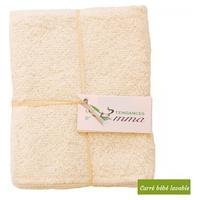 Cuadrado de bambú para bebés lavable Crudo