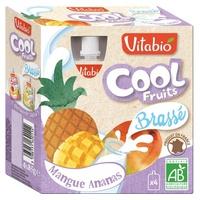 Fresco preparado con pasión de mango francés con leche de vaca