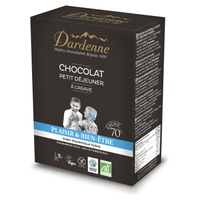Chocolate para desayuno con agave