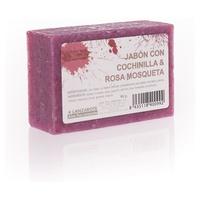 Jabón Artesanal de Cochinilla y Rosa Mosqueta
