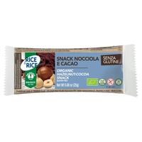 Snack di riso alla nocciola e cacao
