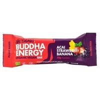 Organic and vegan buddha energy bar with açai, strawberry and banana