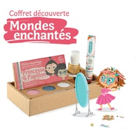 "Coffret Mondes enchantés Kit 3 ""Princesse & Papillon"", vernis or et mascara cheveux rose"
