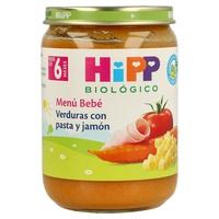 Tarrito Bio Verduras con Pasta y Jamón (6 meses)