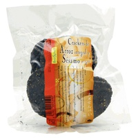 Crackers de arroz integral y sésamo negro