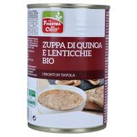 Quinoa- und Linsensuppe