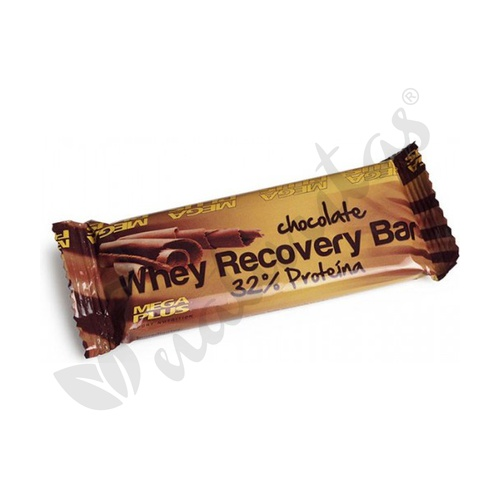 Whey Recovery Bar Chocolate  Espositor 18 unidades de 35 gramos  de Mega Plus