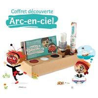 """Coffret Arc-en-ciel : Kit 3 """"Pirate & Coccinelle"""", vernis argent et mascara cheveux rouge"""