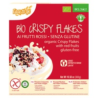 Crispy flakes with red fruits