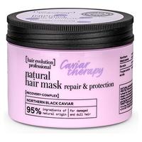 Naturalna maska do włosów terapia kawiorowa naprawa i ochrona