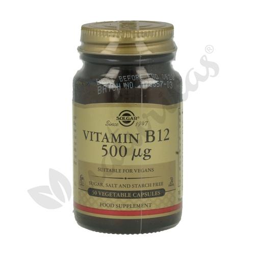 Vitamina B12 50 cápsulas de 500 mcg de Solgar