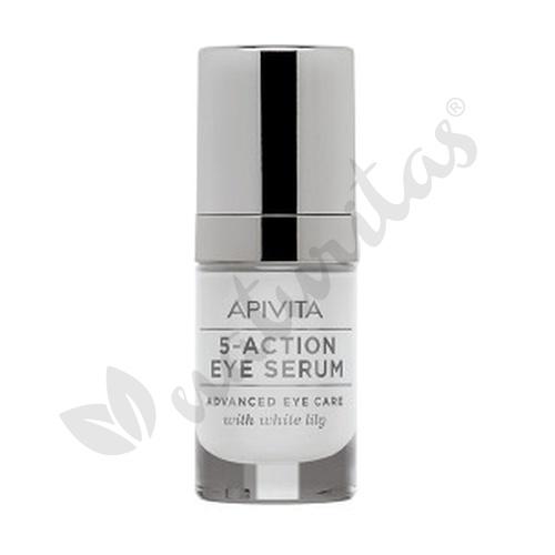 5-Action Eye Serum Con Lirio Blanco