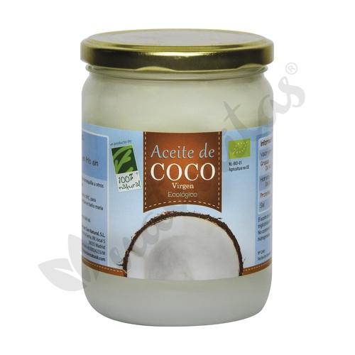 Aceite de Coco Virgen Bio 500 ml de Cien Por Cien Natural