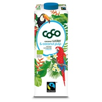 Kokoswasser mit Bio-Fruchtfleisch