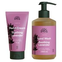 Jabón y crema de manos calmante de Lavanda
