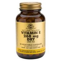 Vitamina E Seca 50 cápsulas de Solgar