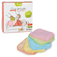 Cuadrados de algodón lavable de colores para bebés