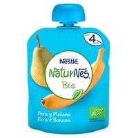 Nestlé Naturnes BIO Bolsita Puré de Fruta Pera y Plátano 4m+
