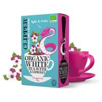 Té blanco con frambuesa