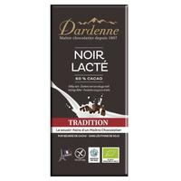 Tableta de chocolate negro con leche 60% tradicional