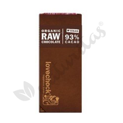 Tabletas de cacao puro 93% Caja de 8 unidades de Vitafood Raw