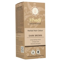 Tinte vegetal (herbal color) castaño oscuro 100 g de KHADI