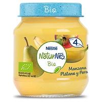 Nestlé Naturnes BIO Puré de Fruta Manzana, Plátano y Pera 4m+