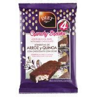 Batoniki ryżowe i quinoa z mleczną czekoladą