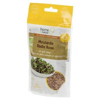 Mixture n ° 3: Mustard, ORGANIC pink radish