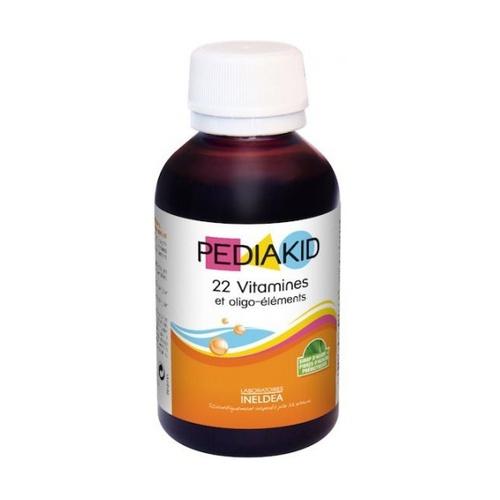 Pediakid 22 Vitaminas y Oligoelementos (Aroma de Naranja Natural y Albaricoque)