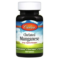 Chelated Manganese, 20mg