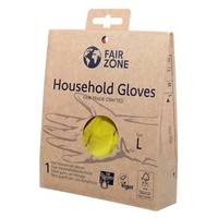 100% Natural Latex Household Gloves Size L Plastic Free