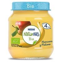 Nestlé Naturnes BIO Puré de Fruta Manzana y Plátano 4m+