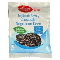 Tortitas de arroz y chocolate negro con coco