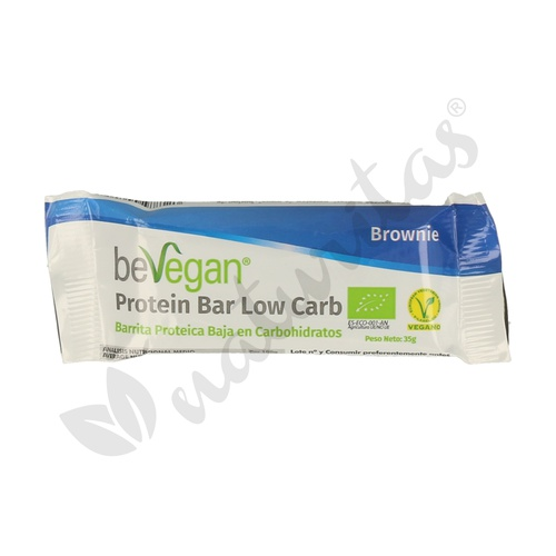 Barritas Proteicas Baja en Carbohidratos Brownie 35 Gr de Bevegan