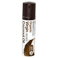 Organiczny balsam do ust z olejkiem kokosowym z pierwszego tłoczenia