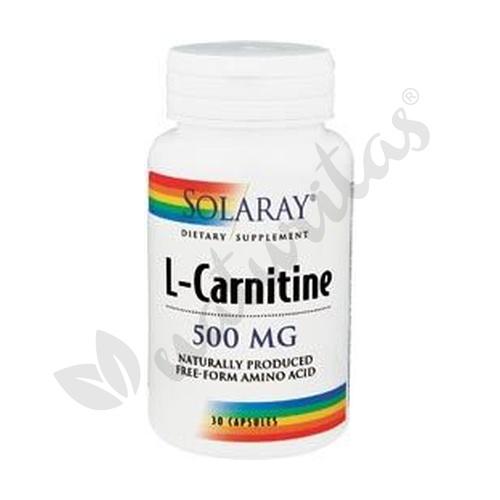 L-Carnitina 30 cápsulas de 500 mg. de Solaray - Kal