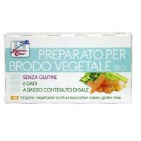 Preparato per brodo vegetale senza glutine - 6 dadi