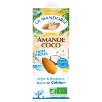 Bebida de almendras y coco sin azúcar Bio