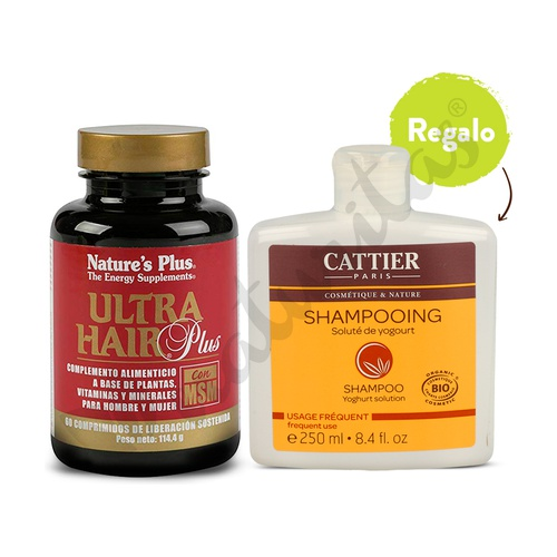 Ultra Hair Plus con Msm + en regalo el Champú Yogurt de Cattier