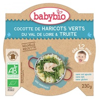 Menu Cocotte De Haricots Verts Et Truite Bio (dès 12 mois)