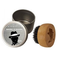Escova de Barba + Caixa de Metal