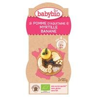 Mes fruits pomme/myrtille/banane BIO - dès 4 mois