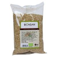 Organiczny okrągły brązowy ryż
