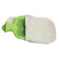 Botella de agua caliente de látex con funda de algodón
