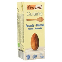 Organic almond cream for cooking