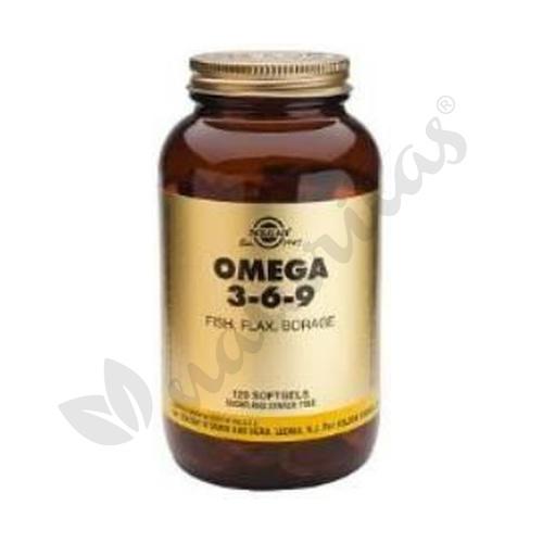 Omega 3 6 9 120 cápsulas de Solgar