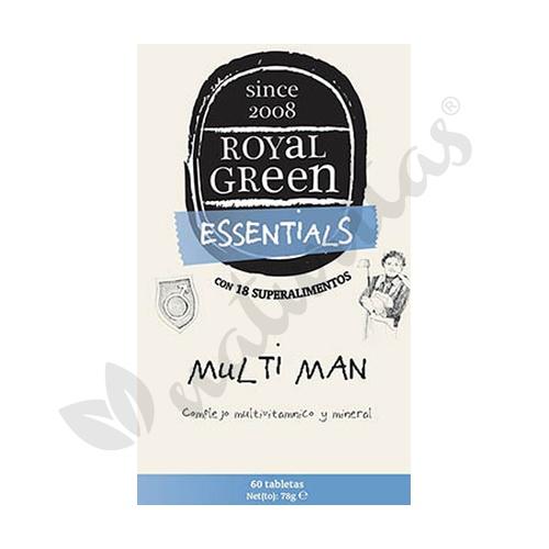 MultiMan Vitaminas y Minerales Complex 60 Cápsulas de Royal Green