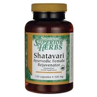 Superior herbs shatavari root extract - standardized 500 mg