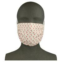 Maska z tkaniny wielokrotnego użytku Flamingos